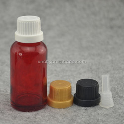 bottle glass with tamper proof cap with funnel plug glass bottle for essential oil eliquid