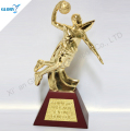 gold metal basketball sportsman trophy statue award