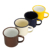 FDA US Export Standard cast iron metal printed 8cm enamel camping mugs cups with black rim