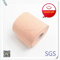bamboo pulp nature color 4ply toilet roll paper