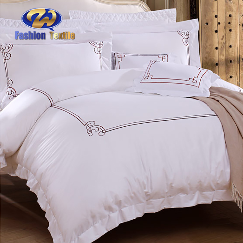 Hotel white bedding collection quality duvet cover