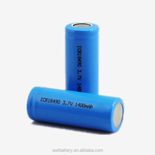 EWT hot sale li-ion battery ICR 18650 3.7v 2000mAh cylinder rechargeable lithium ion battery