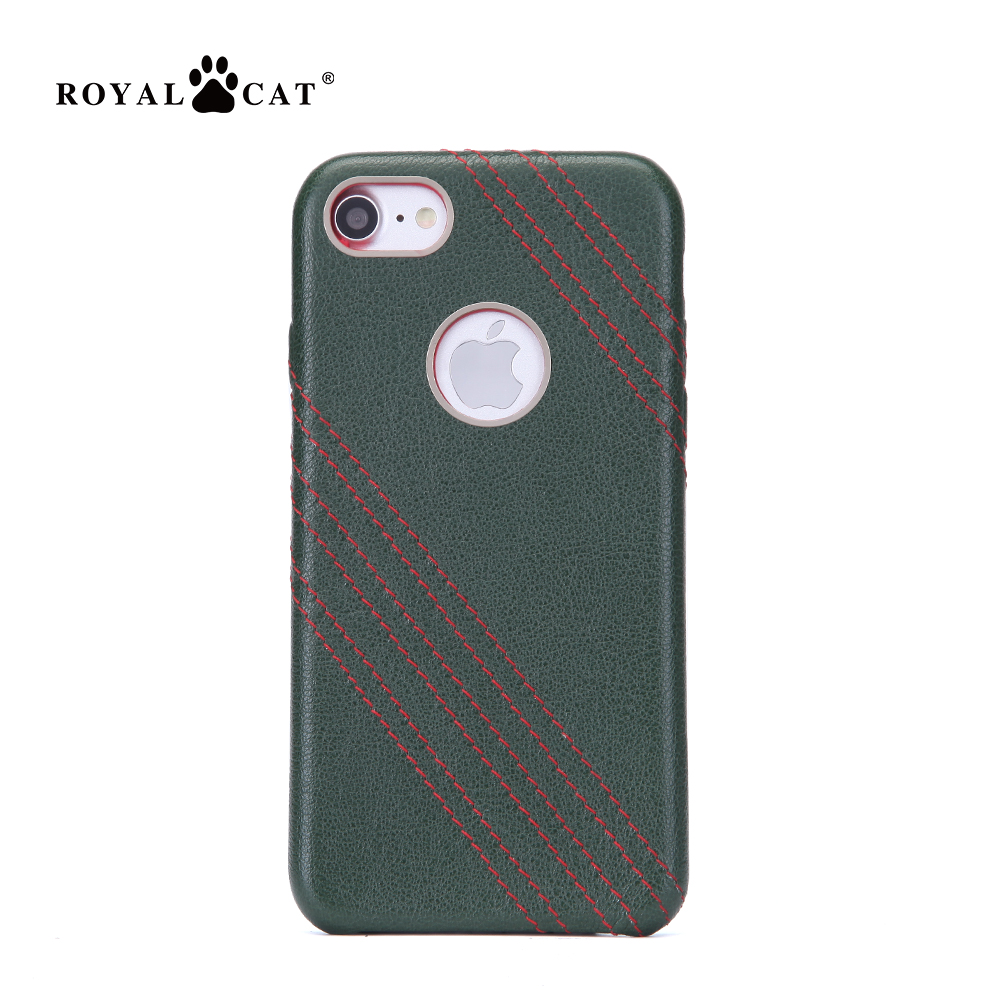 New arrival PR2997 genuine leather phone case for iphone 7 back cover case ultra slim color stiching
