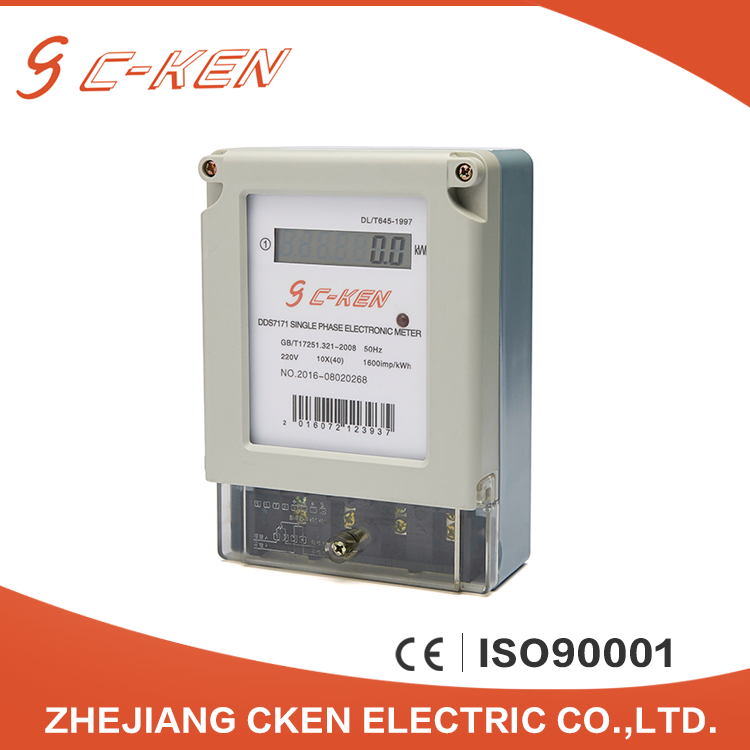 Hot Sale 220V 50HZ Single Phase Digital Power Meter, Electronic Type Energy Meter