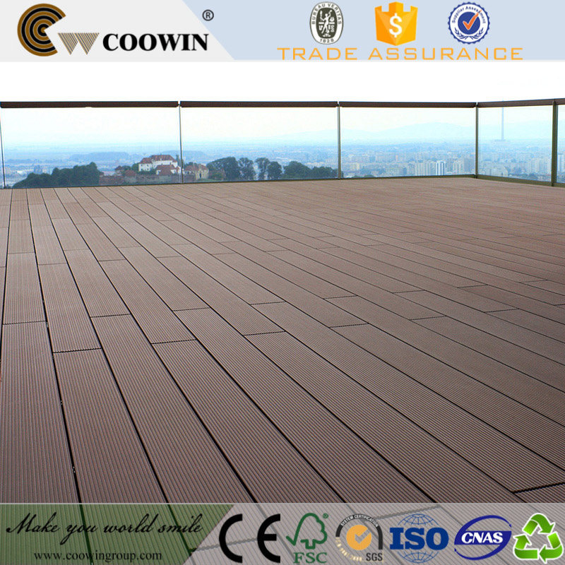 wood texture wpc vinyl floor for swimming pool
