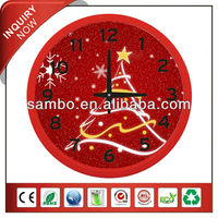 Thanksgiving Day Cartoon Wall Clock