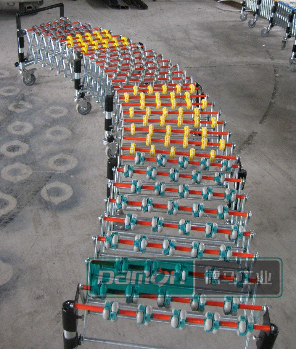 Flexible Expandable Skate wheels Conveyor