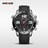 2015 WEIDE Hot Selling Full Solid Stainless Steel Watches WH3405 Vogue LCD Chronograph Sport Watches China Supplier Watches Men