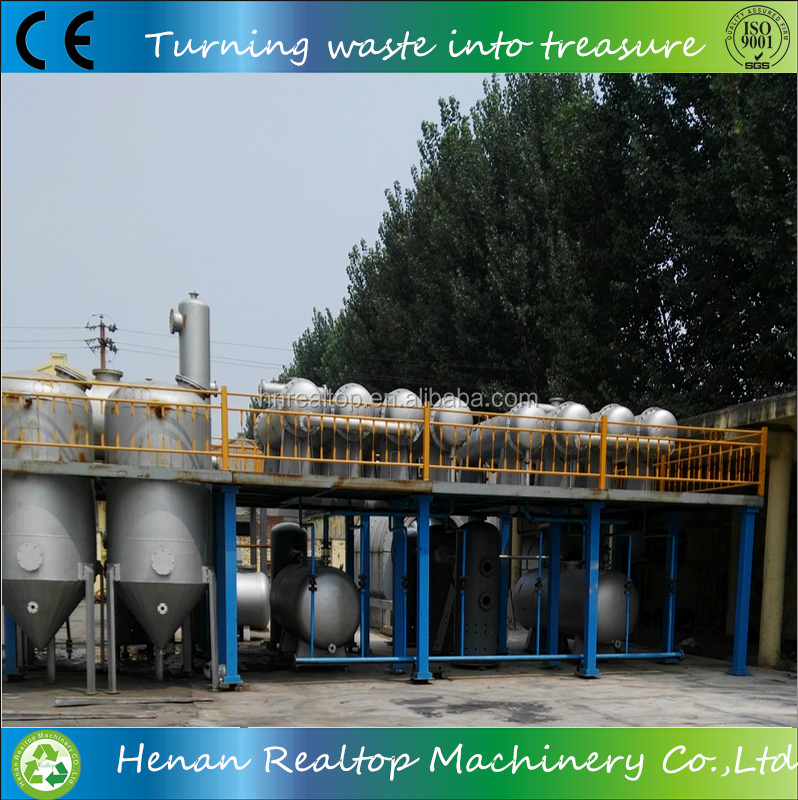 New designed waste tire pyrolysis oil to base oil oil distillation machine