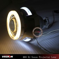Angel Eyes Hid Head Lights For Bike,2.5inch H1 Xenon Bulb Angel Eye Projector Hid Lamp