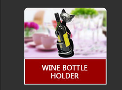 Metal Bioscope Sculpture Wine Bottle Holder