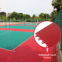 100% environmental pp plastic material portable interlocking volleyball court flooring