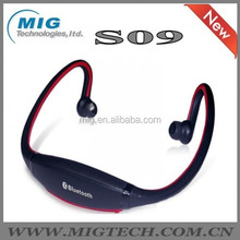 wireless bluetooth headset S09 CSR 4.0 with card slot FM, sport GYM running high definition speaker earphone