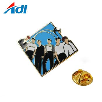Enamel metal bts bulletproof k-pop cool boy EXO logo lapel pin