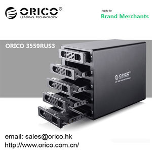 "ORICO 3559RUS3 5 bay 3.5"" HDD RAID Enclosure HARD DRIVE RAID ENCLOSURE USB 3.0 e-SATA"