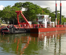 Hydraulic cutter head suction dredger from china for soil dredging for sale from river or sae