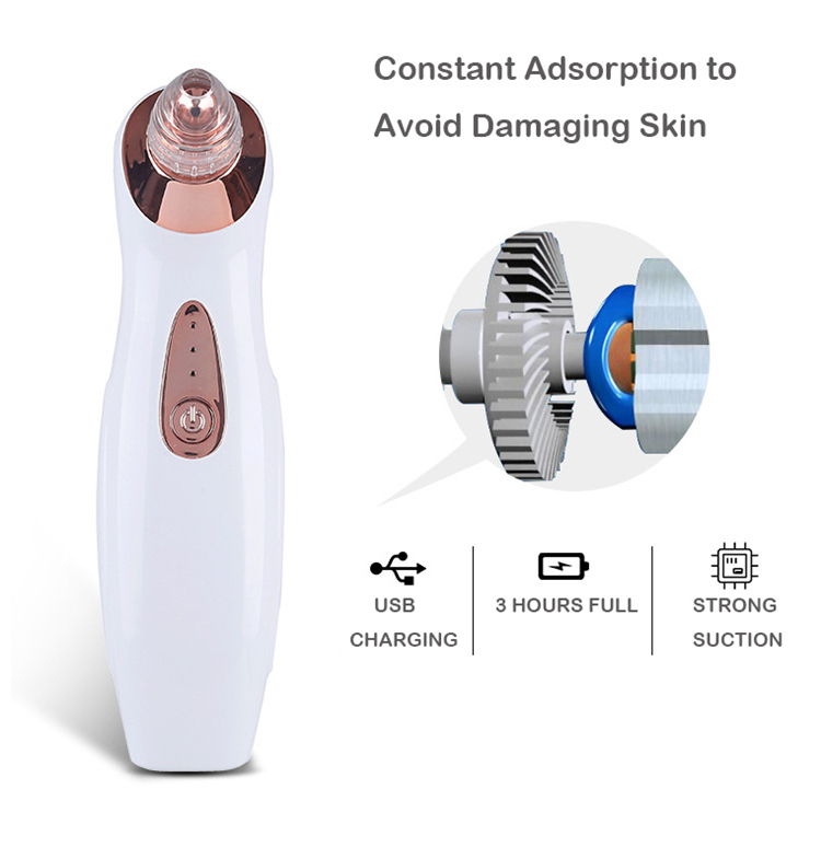 Pore cleaning USB electric blackhead vacuum cleaner blackhead suction