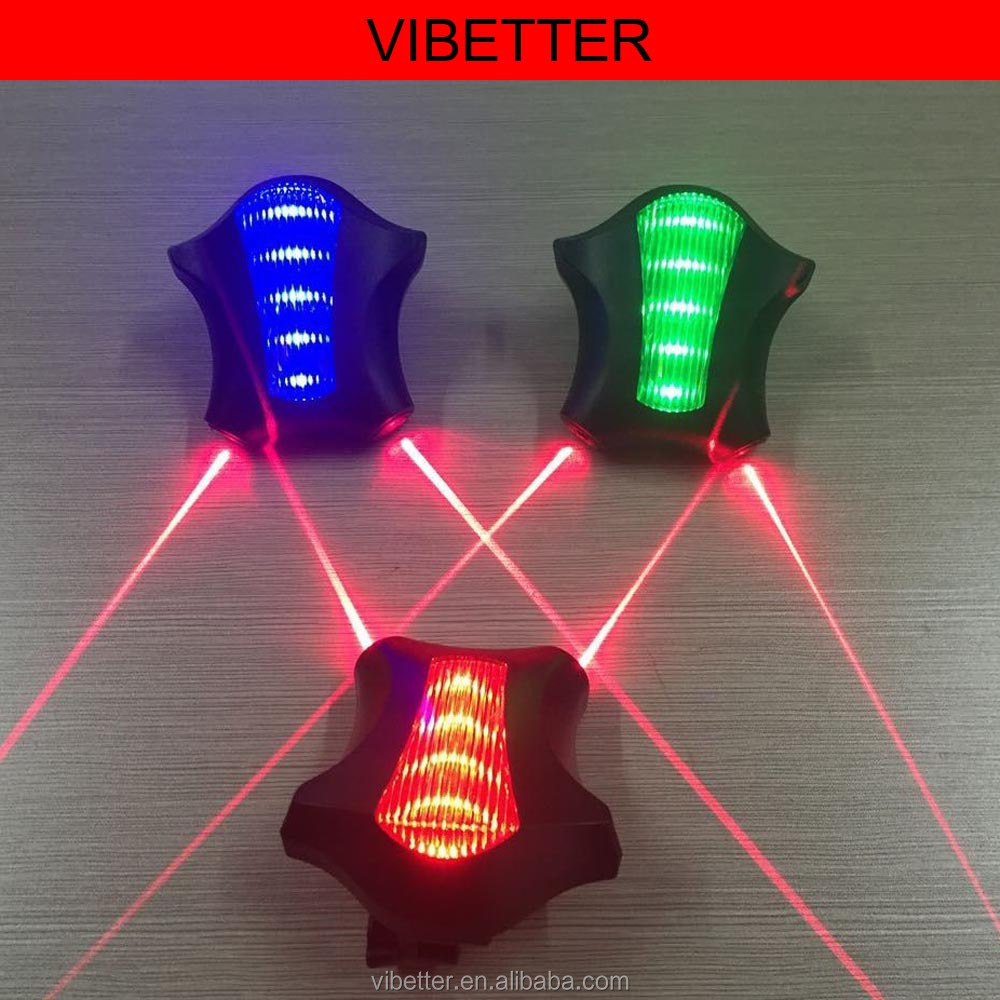 2016NEW! Cool Waterproof Bicycle Laser Tail Light 2 Lasers+5 LEDs Bike Safety Red Rear Warning Light Cycling