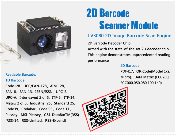 Easy Fixing 2D Raspberry Pi Barcode Scan Engine Barcode Scanner Module