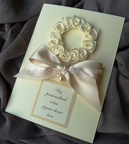 handmade charming rose flower with tages for printing names for wedding invitations card