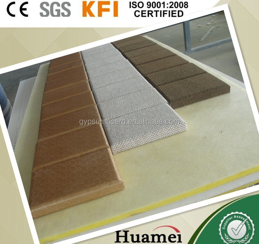 Attractive durable / 600*600mm panels / soundproofing materials wool interior decoration