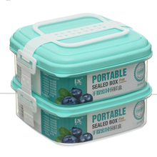 Flexible Layer Combination Double Layer 850ml Square Microwave Plastic Boxes Sealed Crisper
