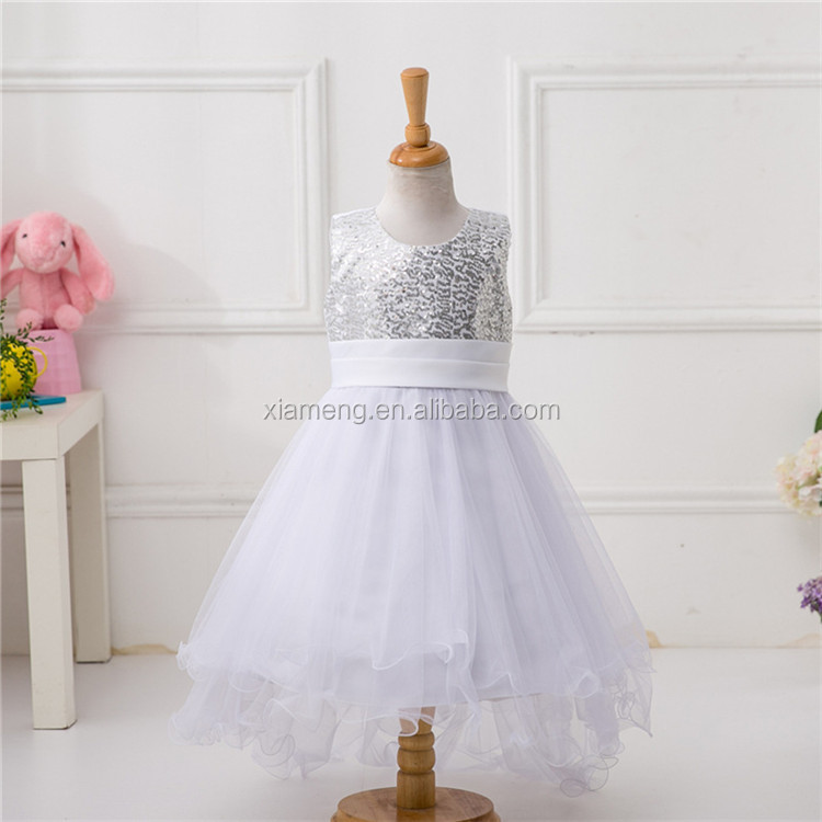 Alibaba short front long back wholesale flower girl dresses
