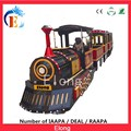Amusement park rides electric trains for kids trackless electric train for sale
