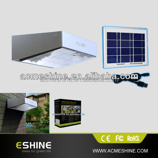 ELS-06P-5W Waterproof Solar Powered Outdoor Lamp 53LED Wall Light PIR Induction Motion Sensor Detector /Garden Home Lighting