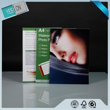 promotional waterproof one side glossy printing photo paper A4