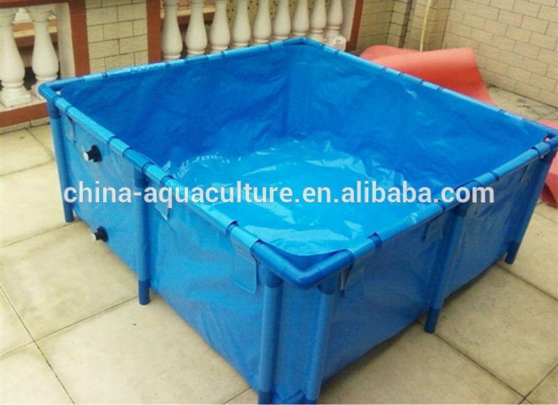 Flexible folding koi fish tank with cover koi show display for Portable koi pond