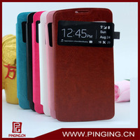 Leather case Smart cell phone cover for Oppo r815t