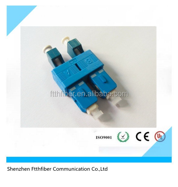 Sc male to lc female duplex singlemode /multimode fiber optic adapter