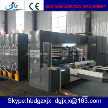 high speed automatic flexo Printing die cutting Machine in used for carton box making