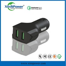 dual usb car charger with 12v socket for Air Purification, square shape mobile charger