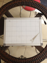 magnetic white board with grid lines