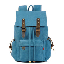 Vintage Canvas Rucksack Women New Women Backpack for 14 15 Laptop Small Backpack School Bags for Teenagers
