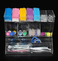 Dental Plastic Items Organizer Acrylic Display Rack for Dental Plexiglass Dental Organizer