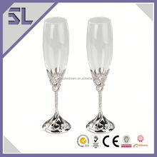 Elegant Decorative Coupe Champagne Flute Wine Glasses Restaurant Glassware