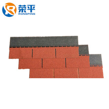 12 Colors 3-Tab Asphalt Shingles Plat Roofing Tiles For Building