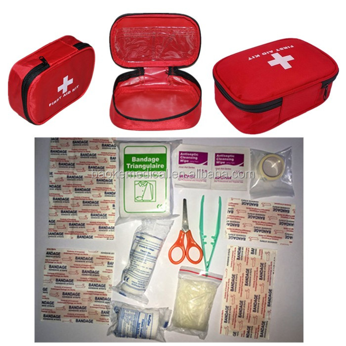 BK-L08 Travel Emergency Kit /Baby Grooming Kit Pouch / 25-Piece Road Trip First Aid Kit
