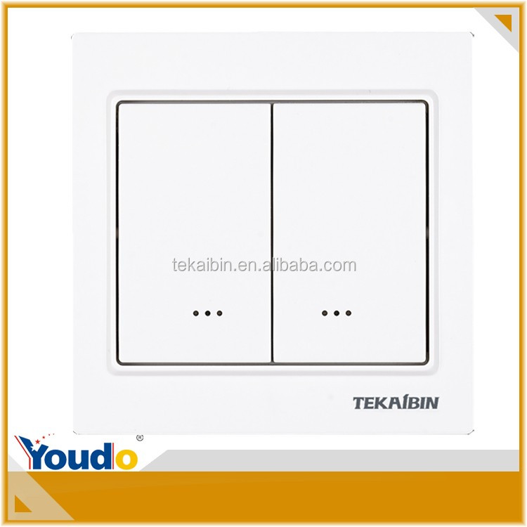 [TEKAIBIN] home automation z-wave Dual switch TZ65D champagne wireless equipment device australia light switch