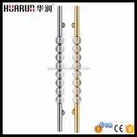 Inside 1800mm crystal glass door handle stainless steel large door handle