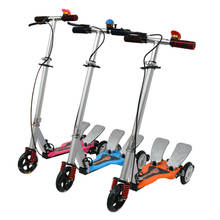 Three Wheels Aluminum Dual Pedal Scooter