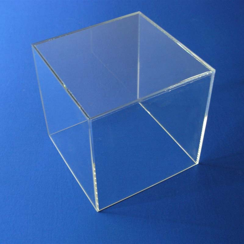 clear acrylic customized transparant square cube with key and lock clear acrylic boxes wholesale