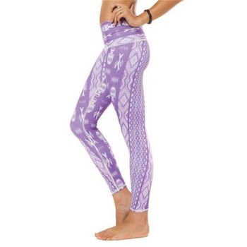 The sublimation printed legging pants yoga pants for women