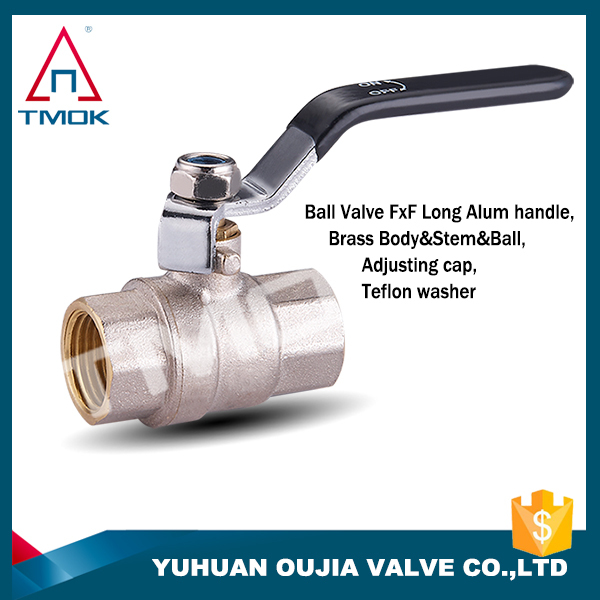 "industrial/family use forged 1/2""-4"" brass ball valve with long iron handle in china"