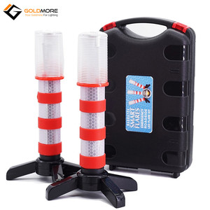 LED Emergency Road Flares Red Roadside Beacon Safety Strobe Light