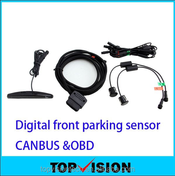 Canbus System LCD Display Car Digital Parking Sensor System read car date from OBD