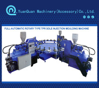FULL-AUTOMATIC ROTARY TYPE TPR SOLE INJECTION MOULDING MACHINE